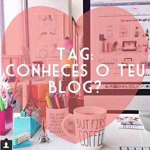 Tag: Conheces o Teu Blog