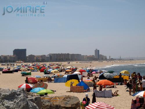 Praia da Figueira da Foz e Buarcos. Beach of Figueira da Foz and Buarcos