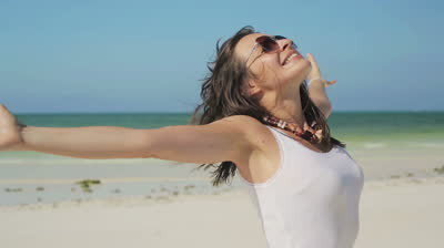 stock-footage-excited-happy-woman-enjoying-beautif