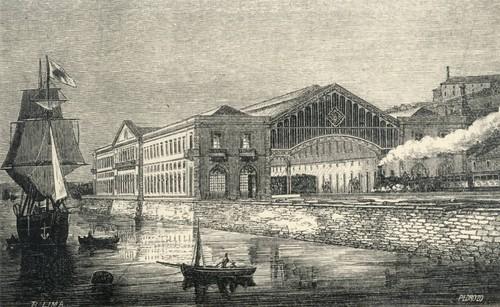 Estação de Santa Apolónia - Desenho, 1865
