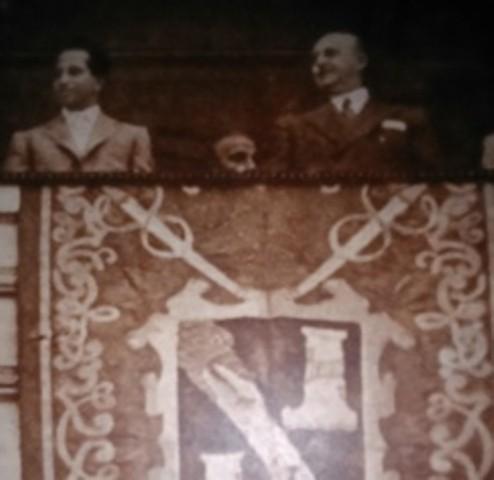 Rei FaisalII e Generalíssimo Franco - 1956.jpg