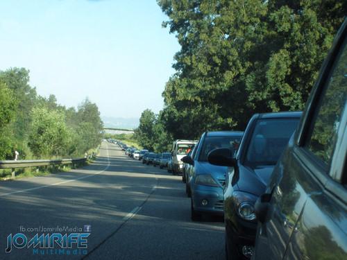 Trânsito parado na via rápida N341 Coimbra Taveiro