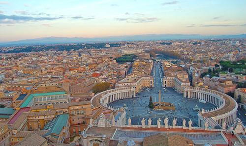 Vistas desde a cúpula da Basílica de São Pedro