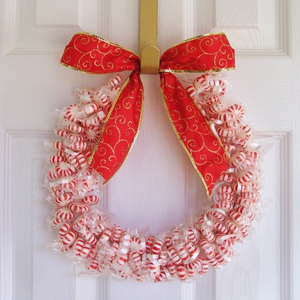 Primeira casa da rua - Adorno puerta navidad ...