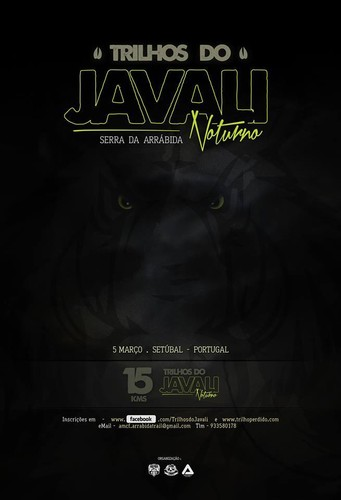 Poster Face Trilhos do JAVALI NOCTURNO 2016