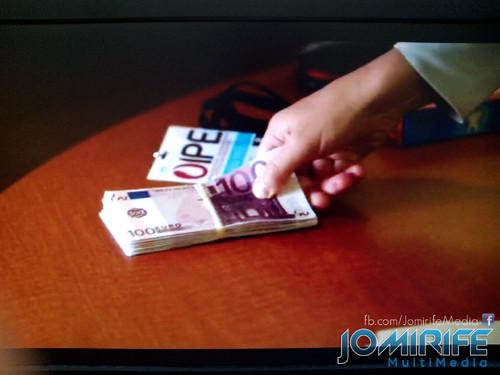 Notas de 100 euros erradas na série Covert Affairs - Agente Dupla