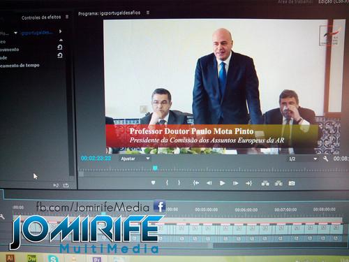 Gravação de vídeo com Paulo Mota Pinto