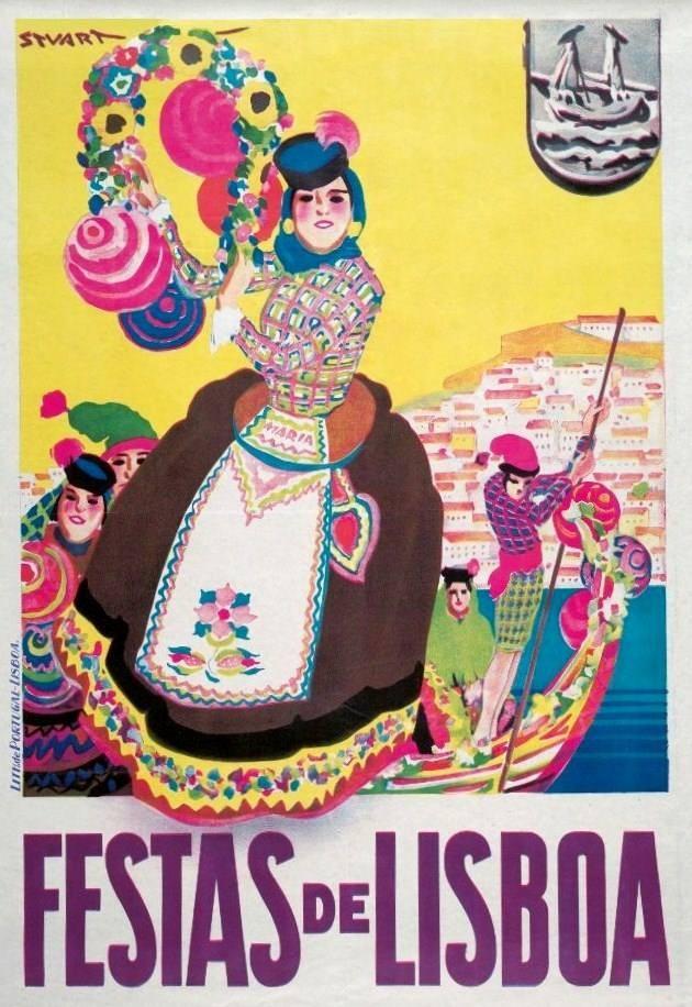 Cartaz alusivo às Festas de Lisboa, cortesia de J