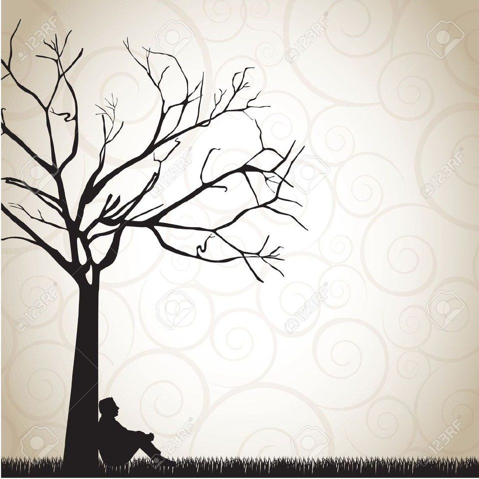 15888701-silhouette-of-a-pensive-man-under-a-tree-