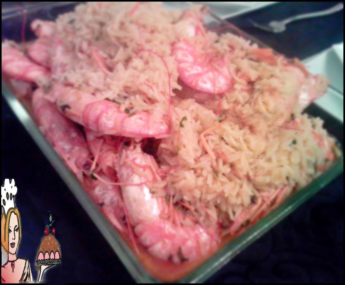 Receitas de arroz de camarão tigre
