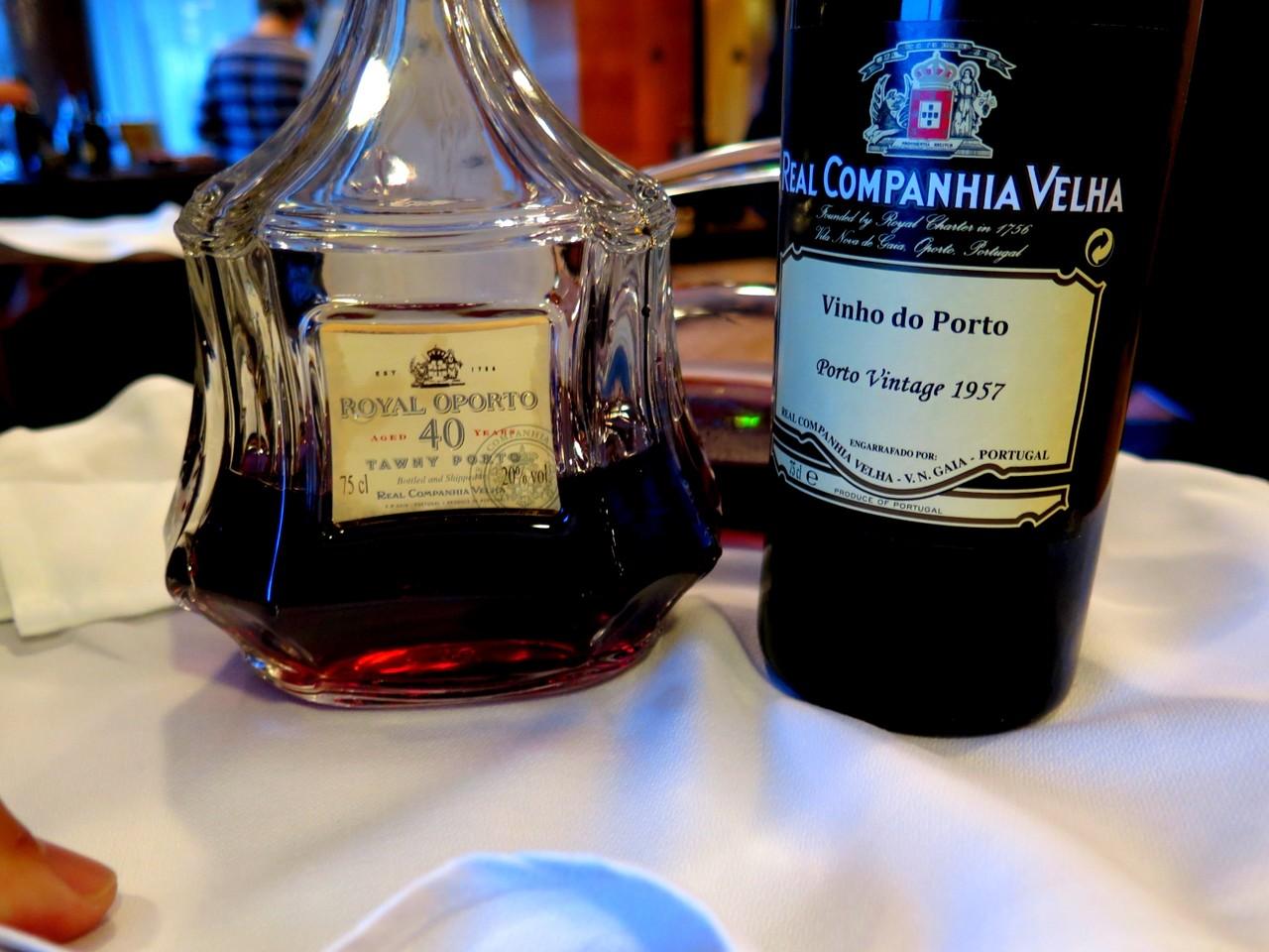 Royal Oporto Tawny 40 Anos e Real Companhia Velha Vintage 1957