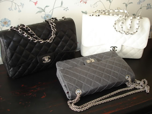 Chanel Classic flap bag and Chanel Reissue 2.55 ba