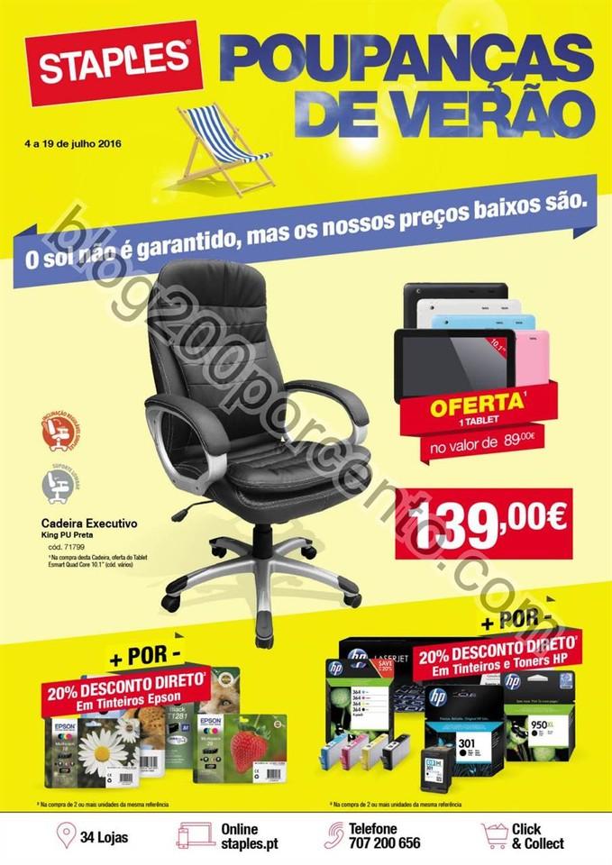 Antevisão Folheto STAPLES Promoções verão de 4