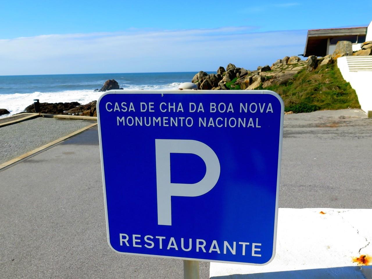 A chegada ao restaurante CASA DE CHÁ DA BOA NOVA