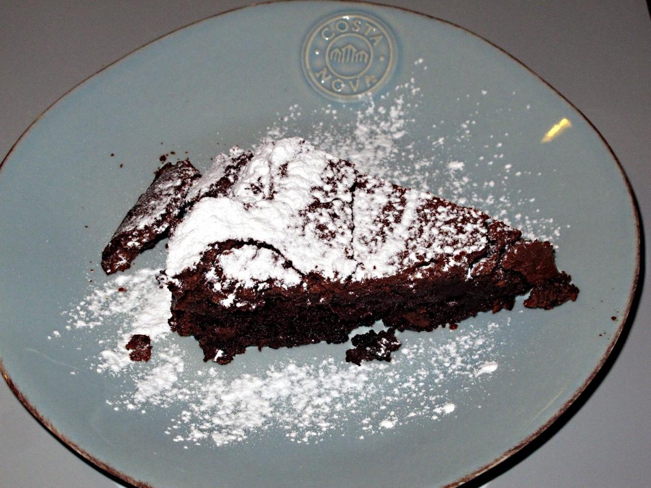 Bolo de chocolate... sem farinha
