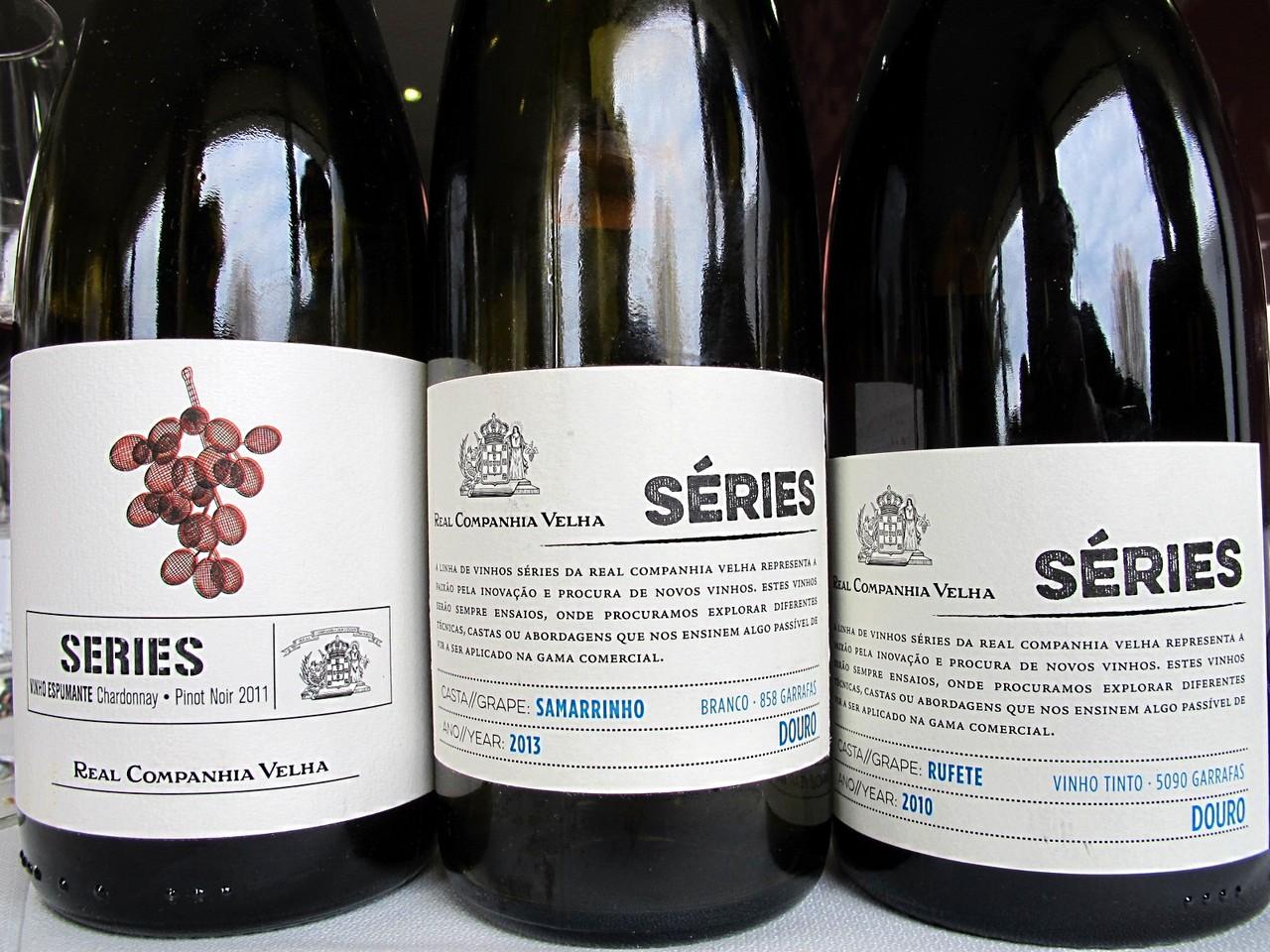 Séries Real Companhia Velha Espumante Chardonnay & Pinot Noir 2011 / Séries Real Companhia Velha Samarrinho branco 2013 / Séries Real Companhia Velha Rufete tinto 2010