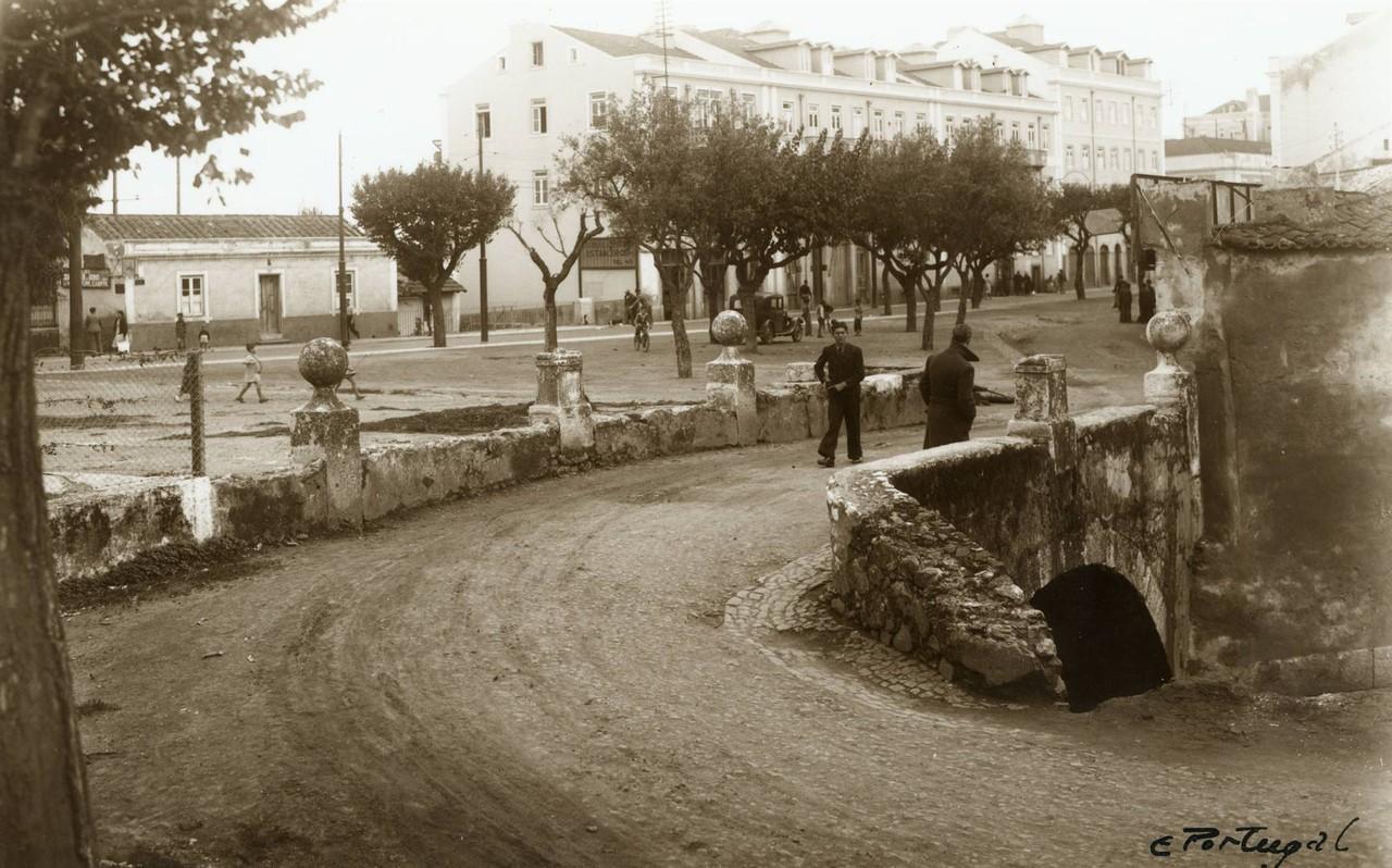 Ponte Velha de Algés, 1939, foto de Eduardo Portu