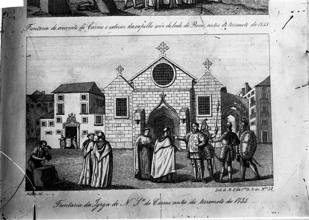 Igreja de Nossa Senhora do Carmo antes do terramot
