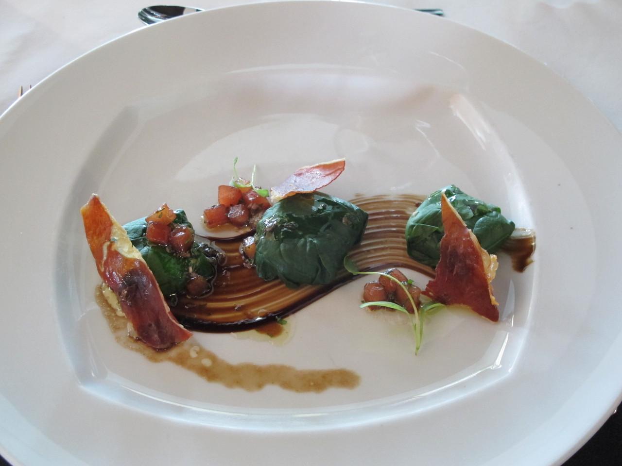 'Raviolis'... feitos com espinafre