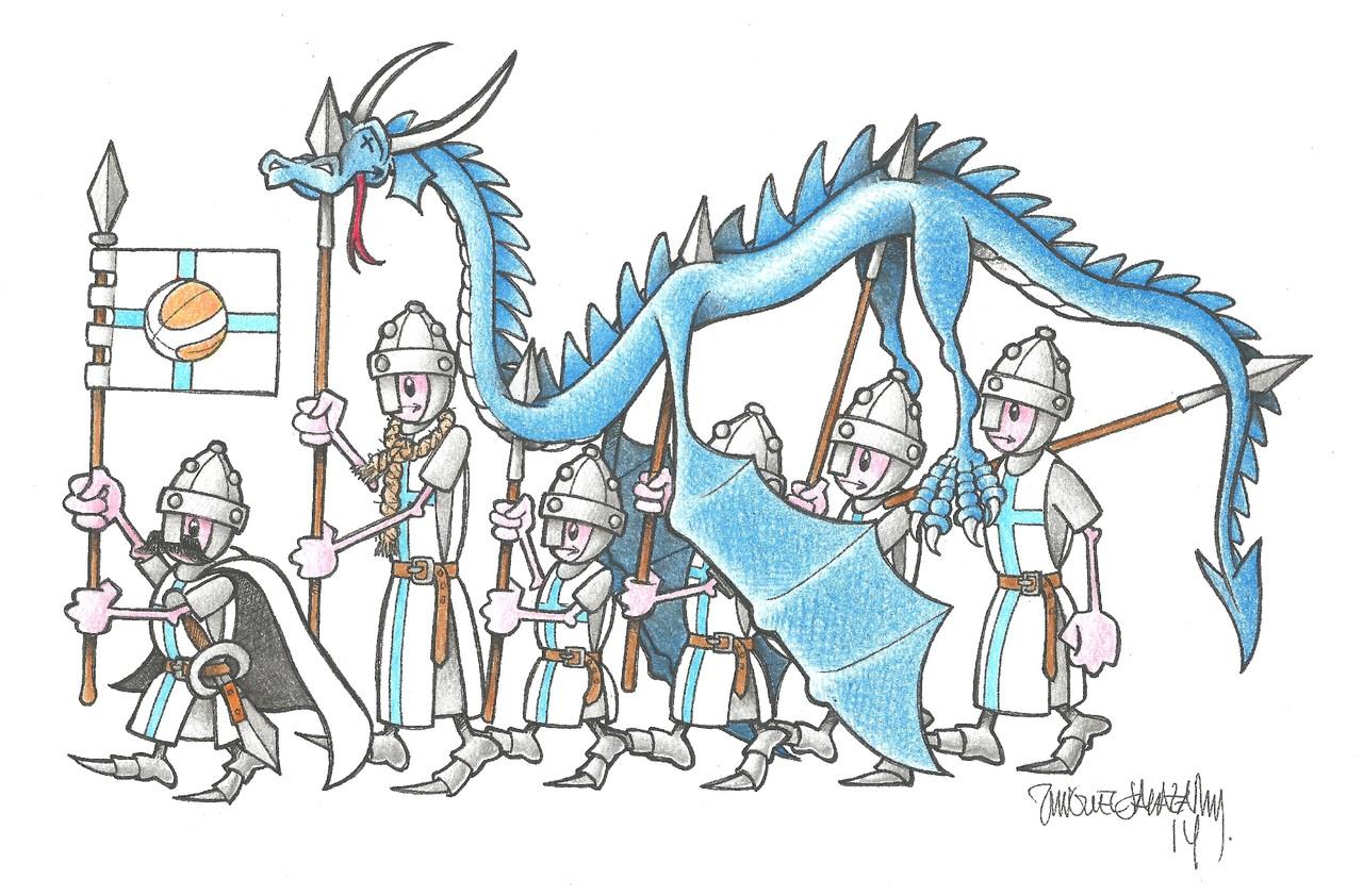 a Dança do Dragão Azul