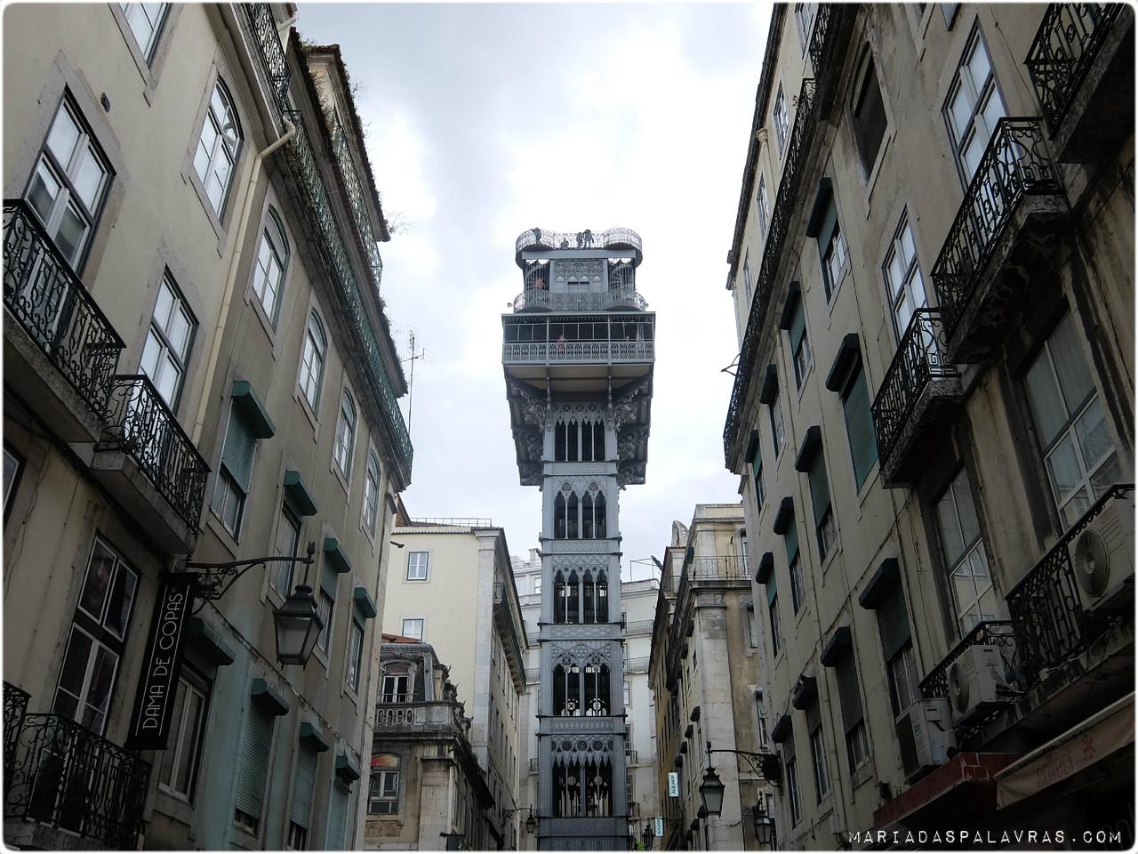 Elevador de Santa Justa - Lisboa | Maria das Palavras