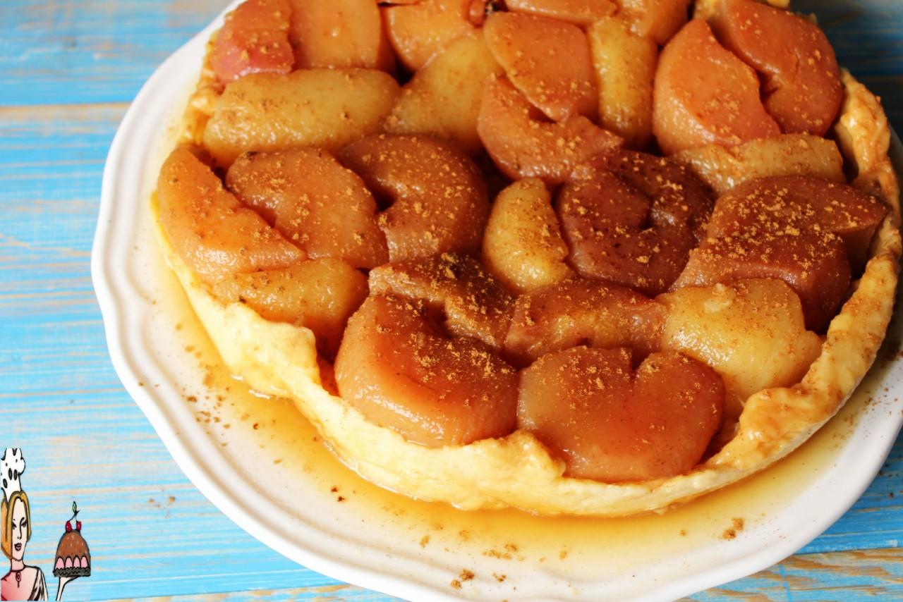 Tarte tartin invertida de pera