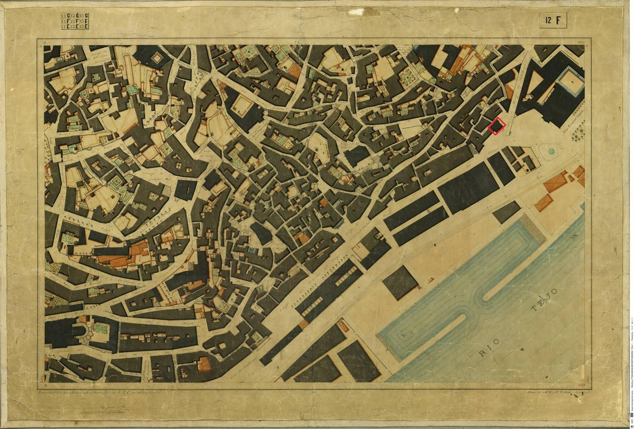 Planta Topográfica de Lisboa 12 F, de 1909, in A.