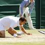 Cilic festeja após mais de cinco horas de ténis
