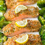 lemon-parmesan-crusted-salmon-with-roasted-broccol