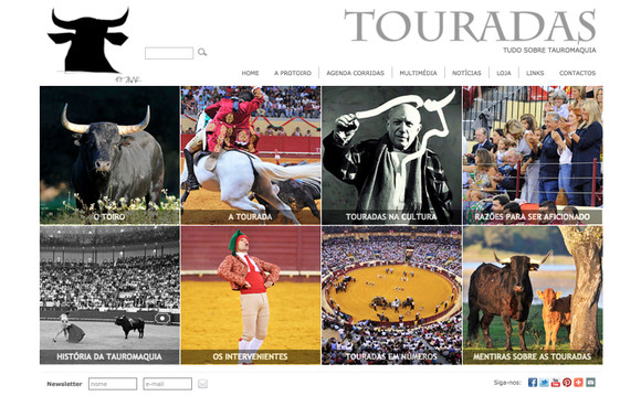 Portal Touradas_Home