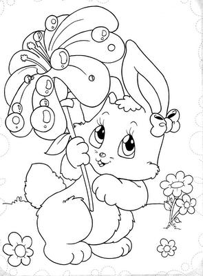 desenhos coelhos pintar colorir espaco educar (46)