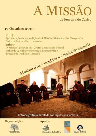 Cartaz, A Missao, no Mosteiro de Cucujaes.jpg