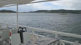 barragem de alqueva vista de barco