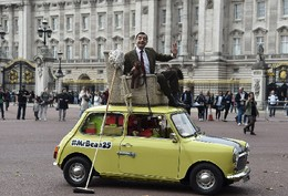 Mr. Bean comemora 25 anos, Londres