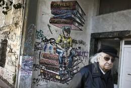 Graffiti nas ruas de Atenas, Grécia