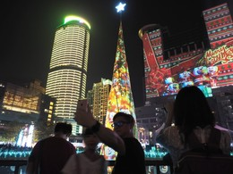 Luzes de Natal 2016 em Banciao, Taipé