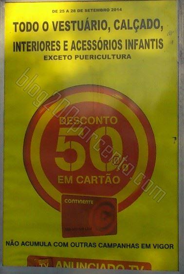 Avistamento 50% de desconto CONTINENTE de 25 a 28 setembro