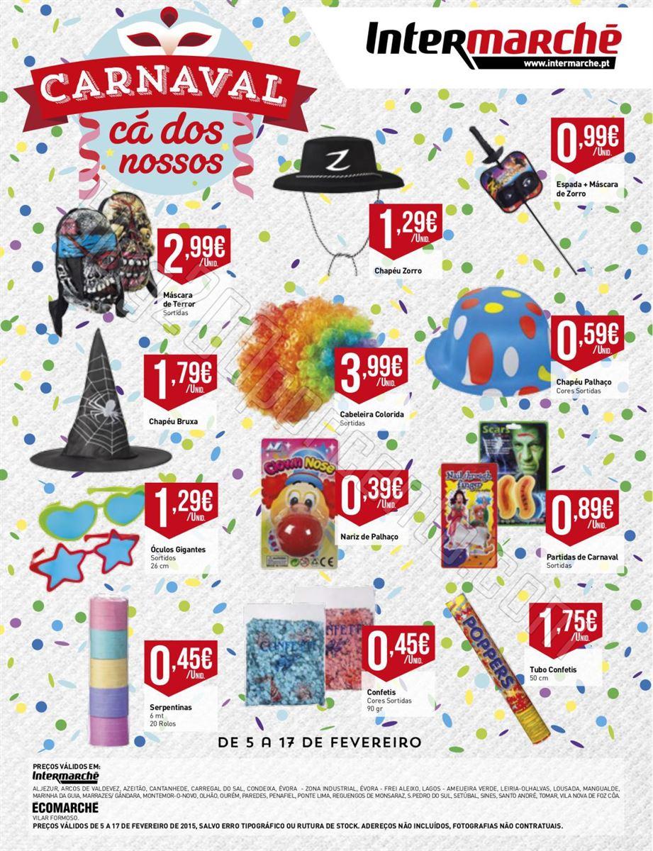 Antevisão Folheto INTERMARCHÉ Carnaval de 5 a 17