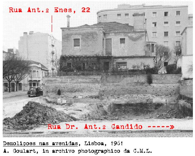 Demolições nas Avenidas, Lisboa (A.Goulart, 1961)