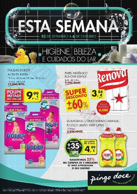 Antevisão Folheto PINGO DOCE de 23 setembro a 6 outubro - Higiene Beleza Lar - Online