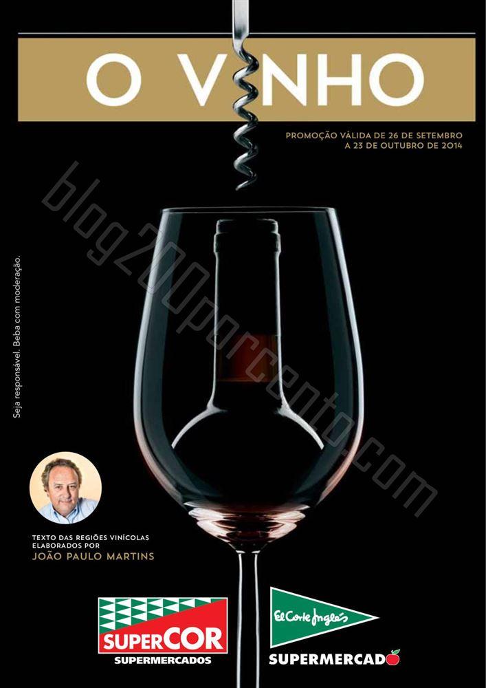 Antevisão Folheto EL CORTE INGLÉS Vinhos de 26 setembro a 23 outubro