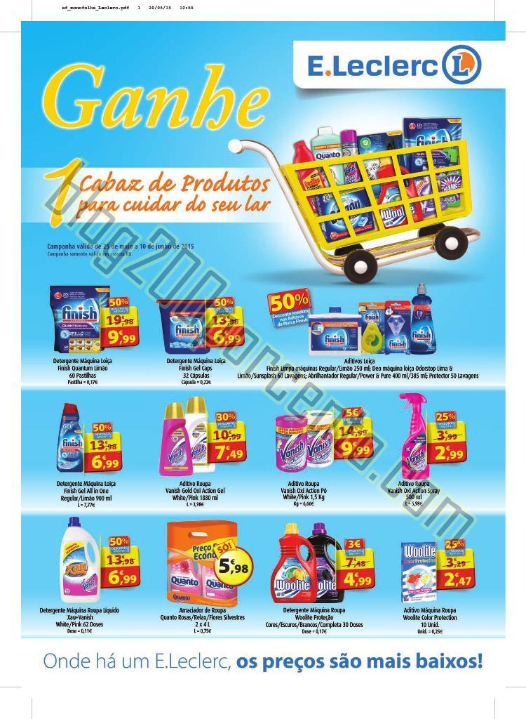 Novo Folheto E-LECLERC Promoções até 10 junho p