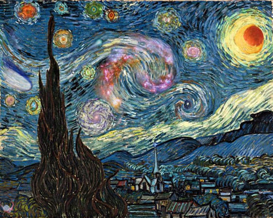 Vincent van Gogh starrynight2010_ Ronnie warner.jp