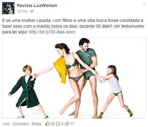 Luxwoman - Desafio 30 dias de sexo